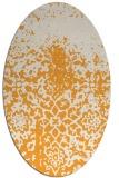 rug #1118622 | oval light-orange graphic rug