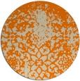 rug #1118994 | round orange traditional rug