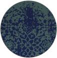 rug #1119034 | round blue-green rug