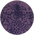 rug #1119094 | round purple faded rug