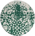 rug #1119130   round green faded rug