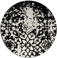rug #1119138 | round black traditional rug