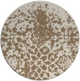 rug #1119150 | round mid-brown traditional rug