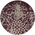 rug #1119158 | round pink traditional rug