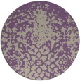 rug #1119178 | round purple faded rug