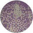 rug #1119178 | round purple graphic rug
