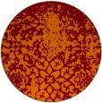 rug #1119198 | round orange graphic rug