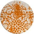 rug #1119202 | round orange graphic rug