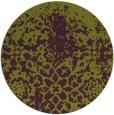 rug #1119234 | round green graphic rug