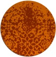 rug #1119262   round red-orange traditional rug
