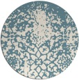 rug #1119302 | round white faded rug