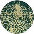 rug #1119326 | round yellow graphic rug