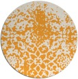 rug #1119358 | round light-orange traditional rug