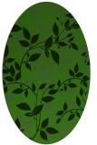 rug #1121650 | oval light-green popular rug