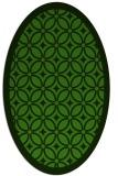 rug #1121710 | oval light-green rug