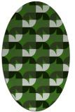 rug #1121770 | oval light-green rug