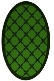 rug #1121930 | oval green borders rug