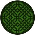 rug #1121978 | round light-green borders rug