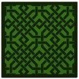 rug #1121986 | square light-green borders rug