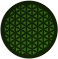 rug #1122058 | round light-green rug