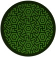 rug #1122238 | round light-green borders rug
