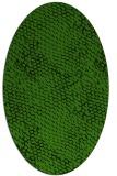 rug #1122410   oval green animal rug