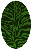 rug #1122430 | oval green rug