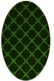 rug #1122510 | oval green traditional rug