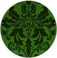rug #1122678 | round light-green damask rug