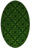 rug #1122795 | oval green damask rug