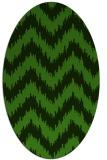 rug #1122835 | oval light-green rug