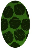 rug #1122875 | oval light-green circles rug