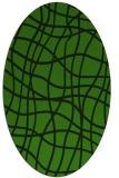 rug #1122935 | oval light-green check rug
