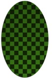 rug #1122955 | oval light-green check rug
