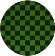 rug #1122963 | round green check rug