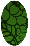 rug #1122975 | oval light-green graphic rug