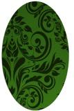 rug #1123255 | oval light-green rug