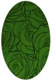 rug #1123415 | oval light-green popular rug