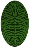 rug #1123595   oval light-green animal rug