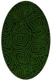 rug #1123655 | oval light-green rug