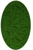 rug #1123695 | oval light-green rug