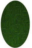 rug #1123795   oval light-green rug