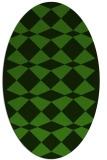 rug #1123855 | oval light-green check rug