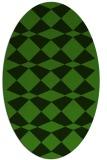 rug #1123856 | oval check rug