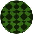 rug #1123863 | round green check rug