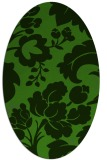 rug #1123895 | oval light-green rug