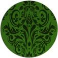 rug #1123963 | round green damask rug