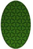 rug #1123975 | oval light-green rug