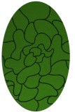 rug #1124095 | oval light-green graphic rug