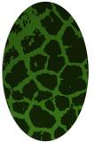 rug #1124235 | oval light-green animal rug